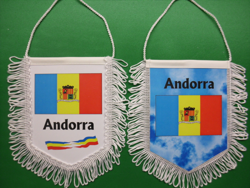 Banner Nationalbanner Autobanner Autowimpel Groesse 10/15 Andorra
