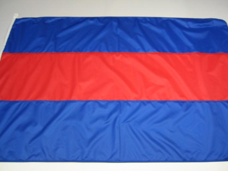 Fahne blau-rot-blau Gr. 150/250 cm
