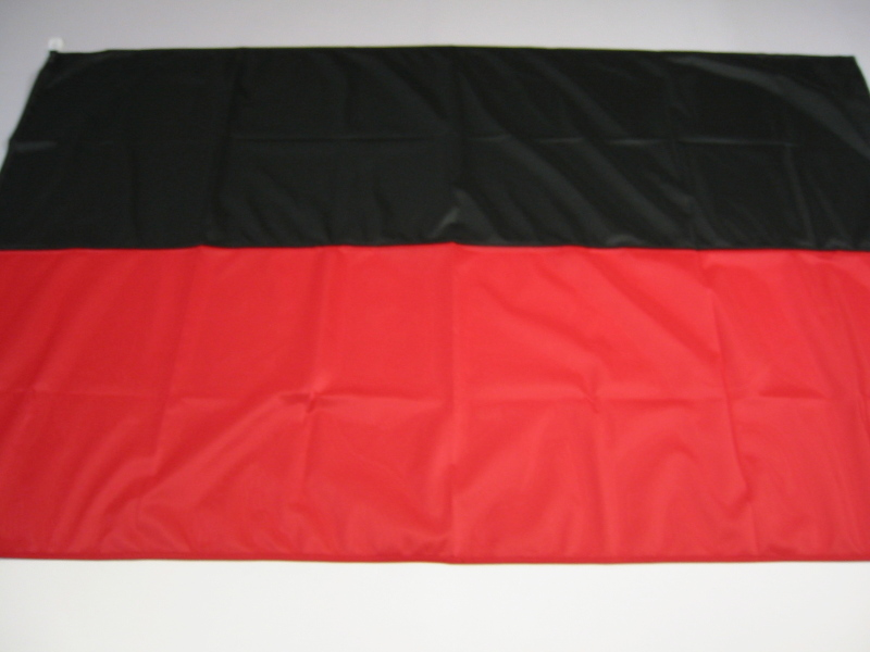 Hissfahne Fahne Flagge Groesse 100/150 schwarz-rot