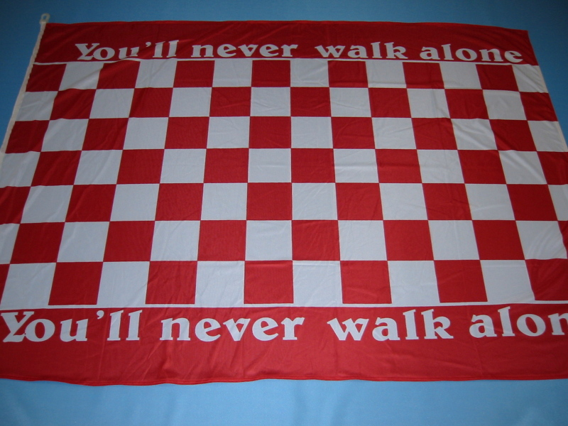 Hissfahne Fahne Flagge Groesse 100/150 Fahne You´ll never walke alone rot weiß