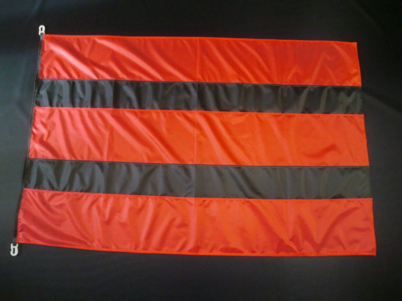 Hissfahne Fahne Flagge Groesse 100/150 rot-schwarz-rot-schwarz-rot