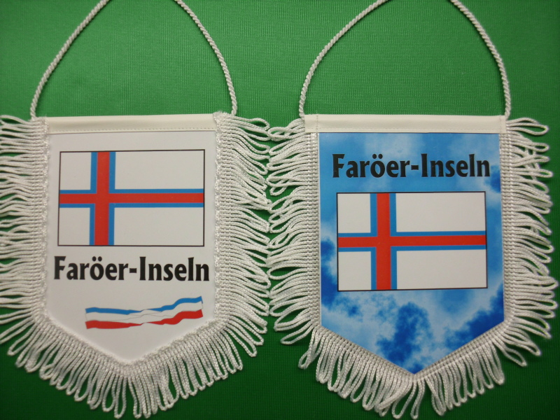 Banner Nationalbanner Autobanner Autowimpel Groesse 10/15 Faröer-Inseln