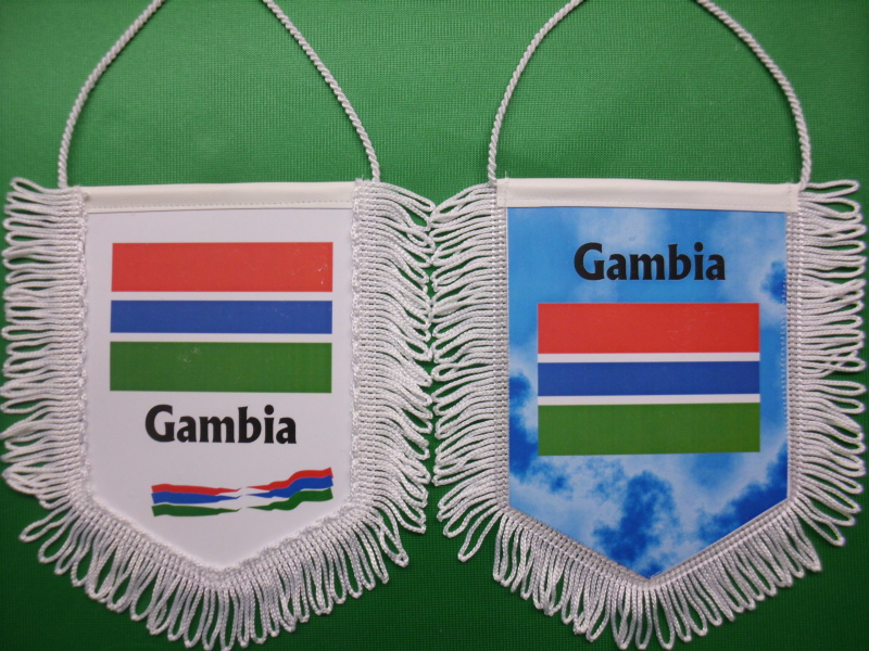 Banner Nationalbanner Autobanner Autowimpel Groesse 10/15 Gambia