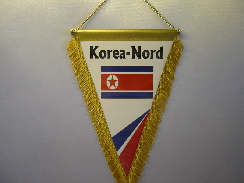 Wimpel Groesse 20/28 Korea-Nord