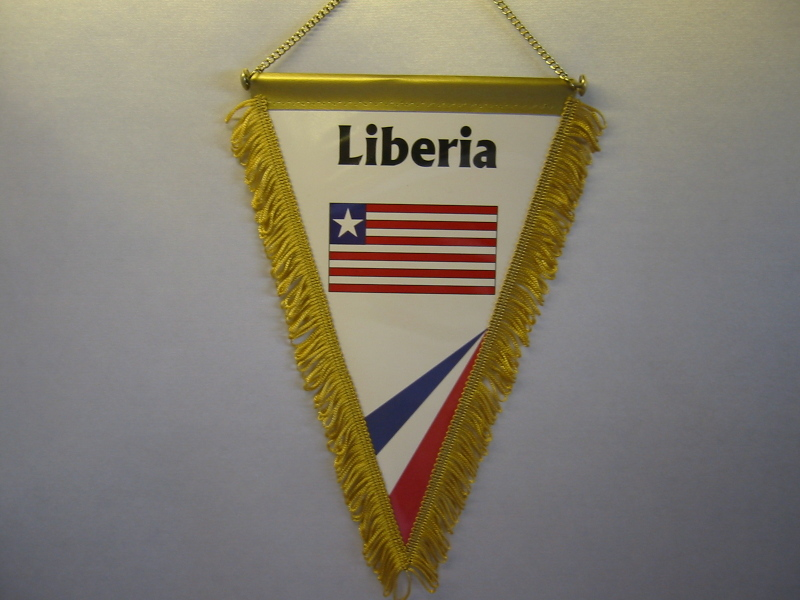 Wimpel Groesse 20/28 Liberia