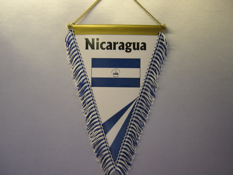Wimpel Groesse 20/28 Nicaragua