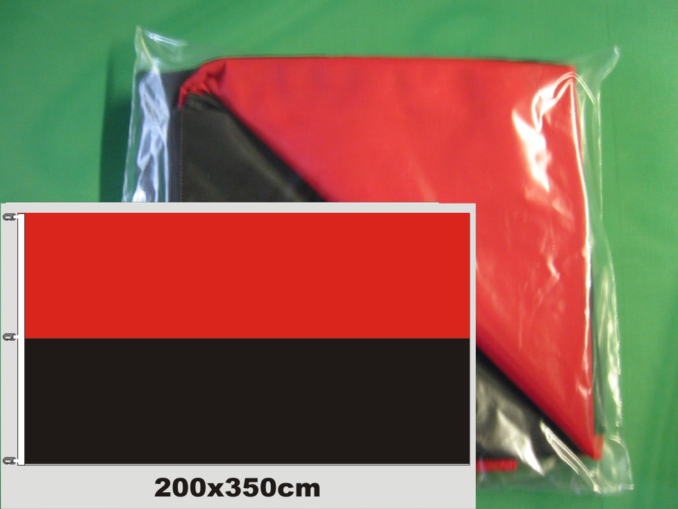 Hissfahne Fahne Flagge Groesse 200/350  rot-schwarz