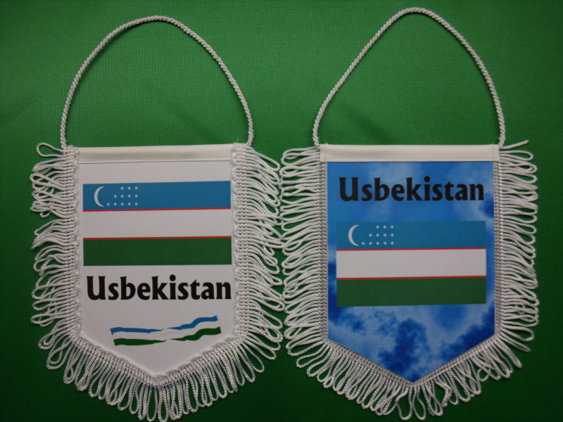 Banner Nationalbanner Autobanner Autowimpel Groesse 10/15 Usbekistan